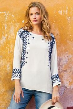 Sienna Embroidered Top - Embroidered Top. Flowy Top. | Soft Surroundings