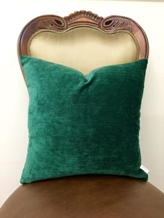 Green Cotton Throw Pillow Cover, Green Pillow, Boho Decorative Pillows, Cushion,  Chenille Pillow, Pillows, Couch Sofa Pillow Case Covers by APillowstory on Etsy