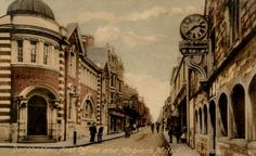 Dorchester, Dorset, England c1900 with Thomas Hardy in The Mayor of Casterbridge.