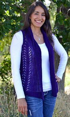 """Shavano Lace Vest by Marlaina """"Marly"""" Bird is knit with our angora blend laceweight yarn, Seraphim, and includes directions for optional sleeves!"""