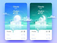 Weather App _仰光 by goumy #Design Popular #Dribbble #shots