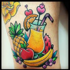 Cocktail and fruit t