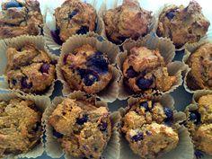 Gluten Free Vegan Blueberry Oat Breakfast Muffins