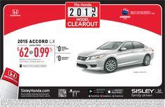 The Honda 2015 Accord LX Clearout at Sisley Honda
