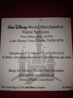 Having Disney Theme Park Merchandise sent to your house   Chip and Co
