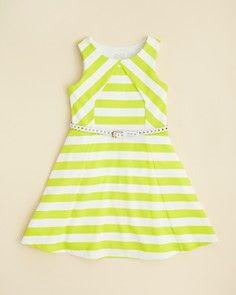 Pippa & Julie Girls' Stripe Dress - Sizes 7-16