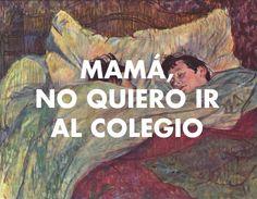 Henri de Toulouse-Lautrec - Le Lit (1892) // Klaus & Kinski - Mamá, no quiero ir al colegio (2010)
