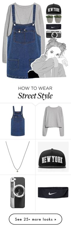 """Street style"" by tumblrinfashion on Polyvore featuring MANGO, ASOS, NIKE, Lux-Art Silks, Stampd, Casetify, women's clothing, women's fashion, women and female"