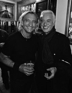 Jimmy Page and Joe Walsh. I forgot about Joe Walsh.they both look really good considering all they've been through. Music Love, Music Is Life, Rock Music, My Music, Jimmy Page, Rock N Roll, Jimi Hendricks, Greatest Rock Bands, Rock Legends