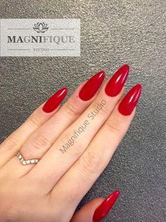 Nägel rot Mandel, red nails