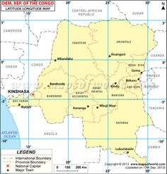 Democratic Republic of the Congo Road Map Congo Democratic