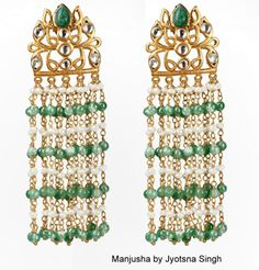 jhaalar on earrings
