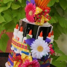 School Supply Cake for Teacher