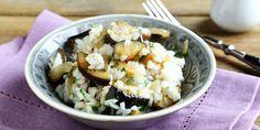 Riz à l'aubergine