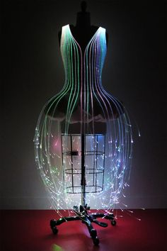Helloooo FABULOUS. DIY fiber optics enhanced dress from instructables.com