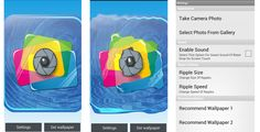 Water Ripple Live Wallpaper . Water Ripple Live Wallpaper is android live wallpaper which simulates water ripple effect when user touch phone screen. This live wallpaper contains many settings to customise live wallpaper