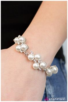 """""""I do"""" Bracelet from Paparazzi Accessories.. Visit my website and get fashionable jewelry for only $5. Always only $5. Necklaces, bracelets, rings and more."""