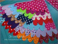 Des ailes en tissu...Multicolores !