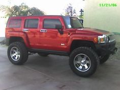 red hummer h3 - Google Search