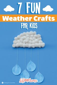 One way to talk about weather that's even more fun is with crafts. Hands-on learning is a great tool for kids because it makes concepts so much easier to understand in their little brains. When it comes to learning about the weather, these crafts will make your kiddos wish it was a different season every day!