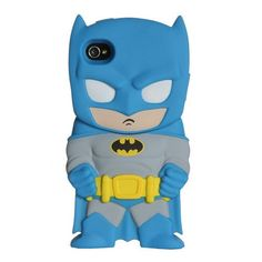 DC Comics Chara-Cover Series 1 Batman Phone Case for Apple iPhone 4/4S. iPhone 4 & 4S compatible. Easy access to all buttons and recharge port. Officially Licensed.