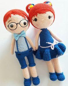 Brazilian Crochet And Handicraft Amigurumi Doll, Amigurumi Patterns, Crochet Patterns, Free Crochet Bag, Crochet Toys, Diy Crochet Flowers, Harry Potter Crochet, Crochet Girls, Soft Dolls