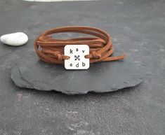 My tribe bracelet, Friendship Bracelet, Friends bracelet, Tribal jewelry, Gift for a Friend, Personalized bracelet, initial bracelet, BFF by PawlowskiCreations on Etsy Friend Bracelets, Bracelets For Men, Friendship Bracelets, Washer Bracelet, Initial Bracelet, Personalized Bracelets, Personalized Gifts, Bracelets With Meaning, Sentimental Gifts