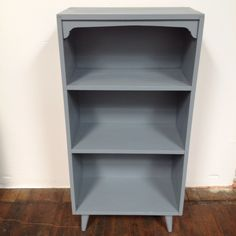 gun metal gray bookshelf Grey Bookshelves, Dorm Necessities, Painting Laminate Furniture, Nursery Ideas, Color Schemes, Gun, Future, Metal, Simple