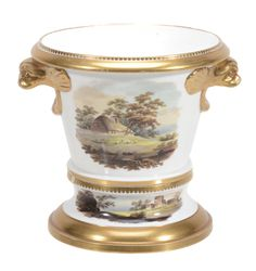A Spode porcelain two-handled jardiniere and stand, circa 1812 A Spode porcelain two-handled jar