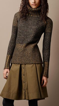 Oversize Roll Neck Sweater | Burberry