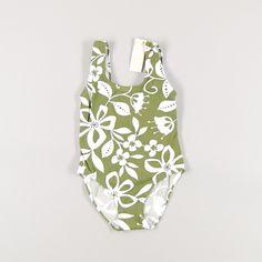 Bañador de flores blancas de niña de color Verde de marca Piqué