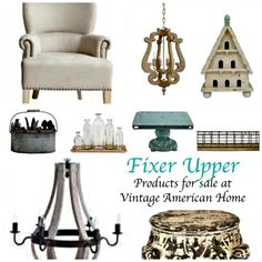 Get the Fixer Upper Look with products like those on Fixer Uper TV sold at Vintage American Home