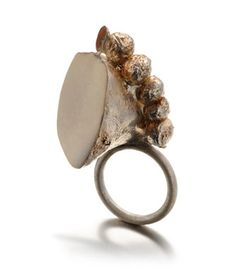 Daniela Boieri Ring: Untitled 2012 Silver, marble powder, wood paste, pigment