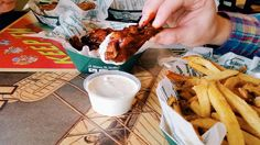 Real love. Hickory Smoked BBQ smothered in fresh made ranch. #wingstop #Charlotte #RickRoss #wings order.wingstop.com