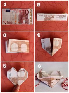 Wedding Gifts * Addicted to…: [DIY] Wedding gifts of money. Fun Crafts, Diy And Crafts, Paper Crafts, Diy Presents, Diy Gifts, Creative Money Gifts, Diy Wedding Gifts, Money Origami, Inspirational Gifts