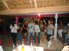 dancing with classmates