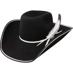 Resistol 89 Legend B 3x Tuff Hedeman Black Felt Hat Mens Western Hats aed392209160