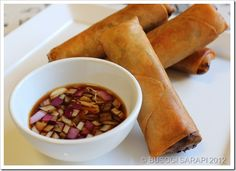 "Large Fried Vegetables Spring Roll or ""Sumpia"" as traditionally called in Malabon"
