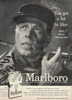 1956 Marlboro Man Cigarettes Ad Hunter Eagle by AdVintageCom