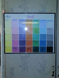 Cool Paint Sample Calendar  Diy    Paint Sample