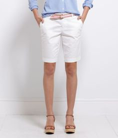 White Bermuda Shorts Women'S - The Else