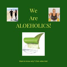 Are YOU a potential Aloeholic too? To find out, simply click video link and then click on the Aloe Vera Diet option for a whole playlist! #loveyourself