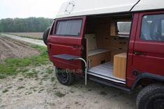 "Innenausbau für einen VW T3 Syncro 16"" - derlandmesserBus Vw T3 Syncro, T3 Vw, Vw Bus, Van Life, Recreational Vehicles, Camper, Custom Cars, Caravan, Travel Trailers"