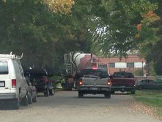 October 2, 2014 Getting new driveway..Messina Cement Co