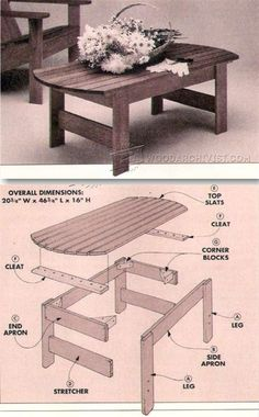 Patio Table Plans - Outdoor Furniture Plans & Projects | WoodArchivist.com