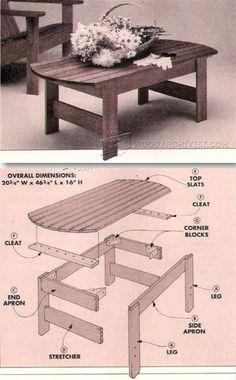 Patio Table Plans - Outdoor Furniture Plans & Projects | WoodArchivist.com
