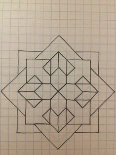 grid paper drawings - New Grid Paper Drawings, pin by elizabeth hart on art in 2019 graph paper art paper art Graph Paper Drawings, Graph Paper Art, Easy Drawings, Barn Quilt Designs, Barn Quilt Patterns, Quilting Designs, Geometric Drawing, Geometric Art, Islamic Art Pattern