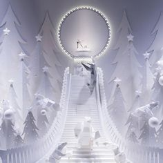 """GALERIES LAFAYETTE, Paris, France, """"The One.... To take a walk in the snow"""", pinned by Ton van der Veer"""