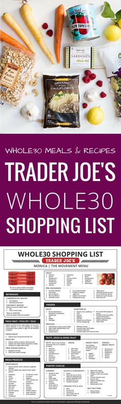 Best Trader Joe's Whole30 Shopping List. Complete with tips and tricks on how to prep for and succeed during your Whole30. Eat like a whole30 QUEEN! Free shopping list & shopping guide printout! Whole30 shopping list. Whole30 Trader Joe's shopping list. Whole30 shopping list week one. Whole30 meal plan that's quick and healthy! Whole30 recipes just for you. Whole30 meal planning. Whole30 meal prep. Healthy paleo meals. Healthy Whole30 recipes. Easy Whole30 recipes. Best paleo shopping…