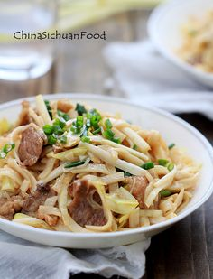 Beef chow fun- stir-fried rice noodles with beef